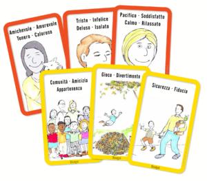 Free Feeling and needs cards Italian