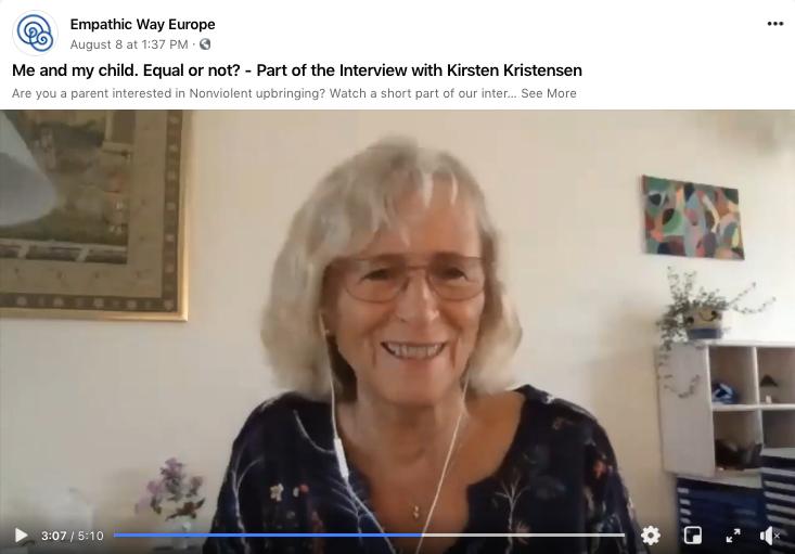 Kirsten Kristensen teaching NVC course online