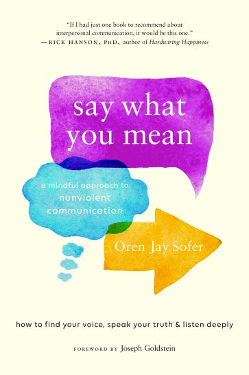 NVC Book Say What You Mean A Mindful Approach to Nonviolent Communication Oren Jay Sofer